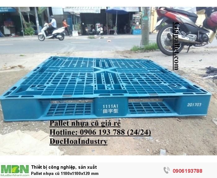 Pallet nhựa cũ 1100x1100x120 mm, miễn phí vận chuyển số lượng lớn - Hotline: 0906193788 (24/24)