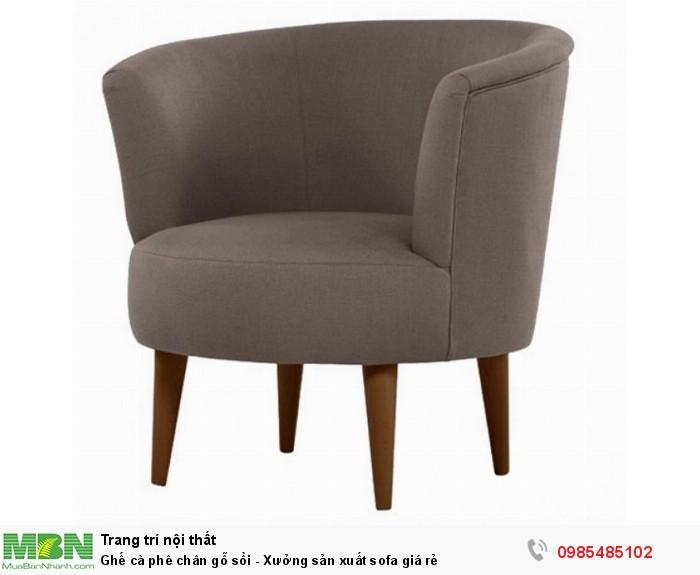 Ghế cà phê chân gỗ sồi - Xưởng sản xuất sofa giá rẻ