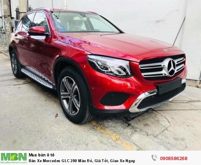 Bán Xe Mercedes GLC 200 Màu Đỏ, Giá Tốt, Giao Xe Ngay