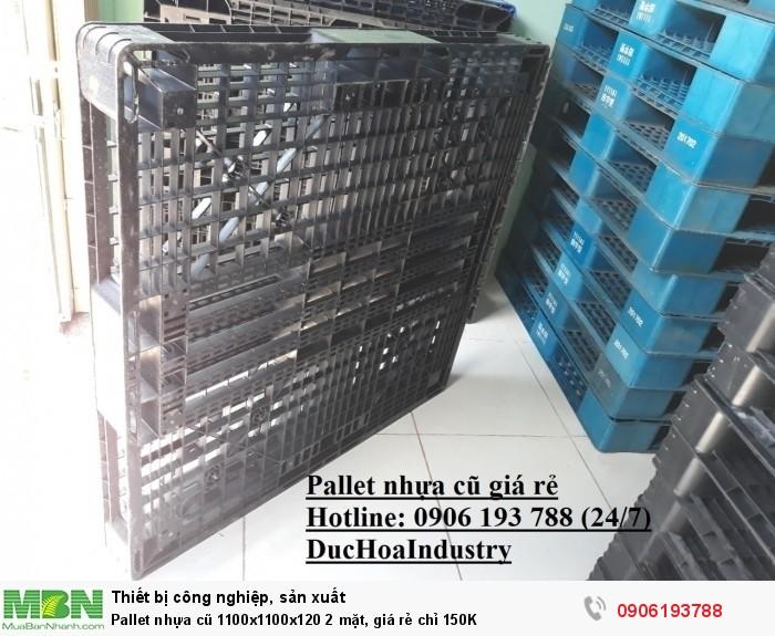 Pallet nhựa cũ 1100x1100x120 2 mặt, giá rẻ chỉ 150K - Giao hàng ngay - Liên hệ: 0906193788 (24/24)