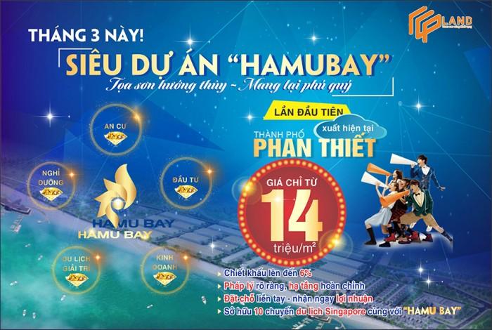 Bán đất nền mặt tiền biển dự án Hamubay Phan Thiết,