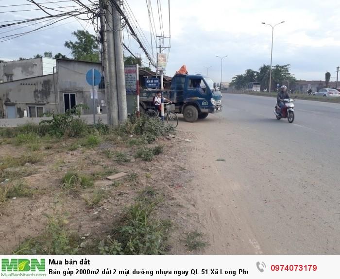 Bán gấp 2000m2 đất 2 mặt đường nhựa ngay QL 51 Xã Long Phước, tt Long Thành.
