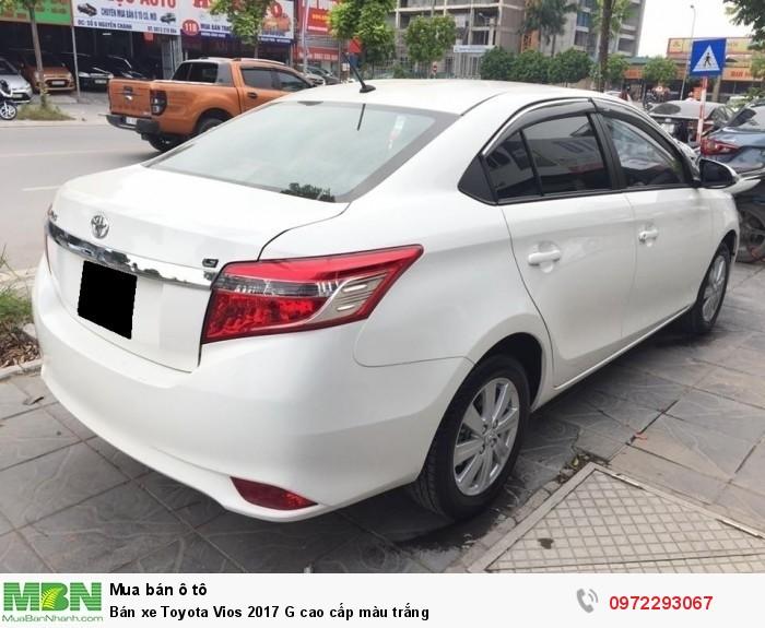 Bán xe Toyota Vios 2017 G cao cấp màu trắng