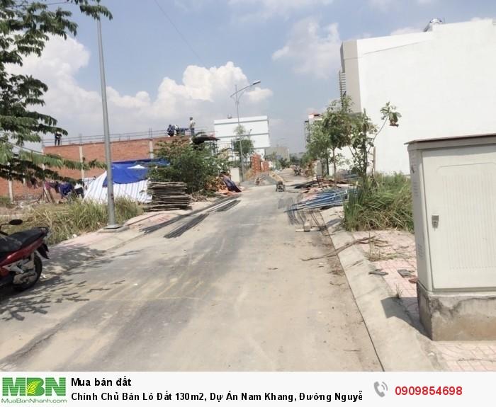Chính Chủ Bán  Lô Đất 130m2, Dự Án Nam Khang, Đường Nguyễn Duy Trinh, P.Long Trường, Q9.
