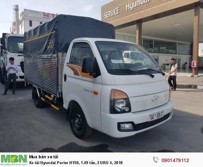 Tổng Đại Lý Phân Phối Xe Tải Hyundai Porter H150, 1.49 tấn, EURO 4, 2018