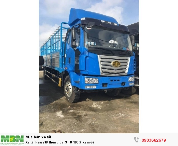 Xe tải Faw 7t8 thùng dai 9m8 100% xe mới