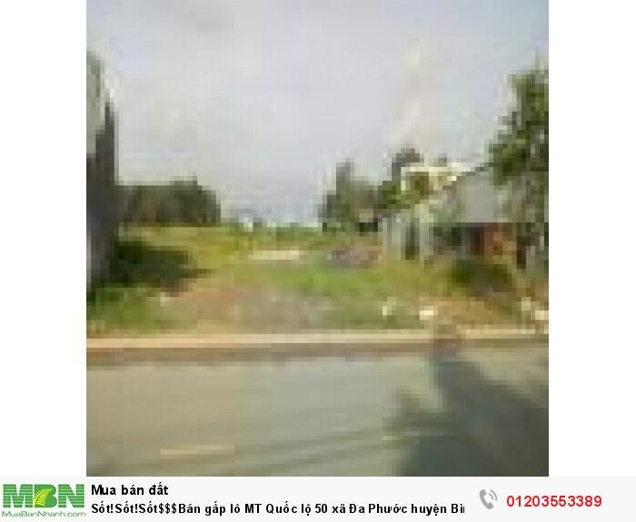Sốt!Sốt!Sốt$$$Bán gấp lô MT Quốc lộ 50 xã Đa Phước huyện Bình Chánh, Diện tích 750 m2
