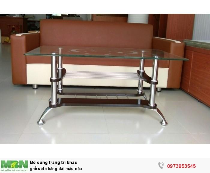 Ghế sofa băng dài màu nâu0