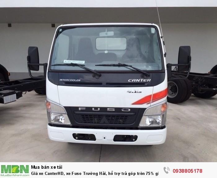 Giá xe CanterHD, xe Fuso Trường Hải, hỗ trợ trả góp trên 75% giá trị xe, bảo hành 3 năm hoặc 100.000 Km. 3