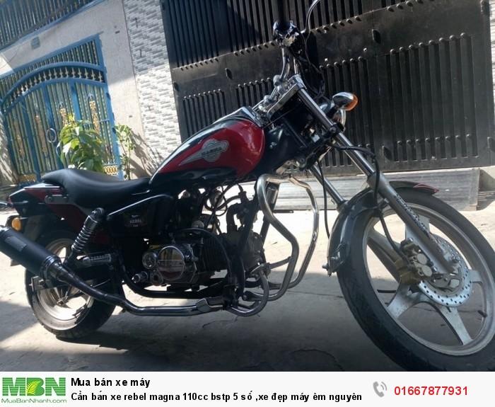 Cần bán xe rebel magna 110cc bstp 5 số ,xe đẹp máy êm nguyên zin, máy ngon chạy mạnh vọt