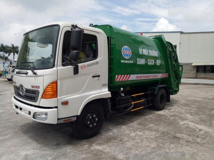 Ô tô HINO cuốn ép chở rác 9 khối (9 m3)