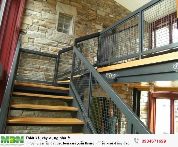 Thi công và lắp đặt cầu thang nhiều kiểu dáng đẹp giá cạnh tranh