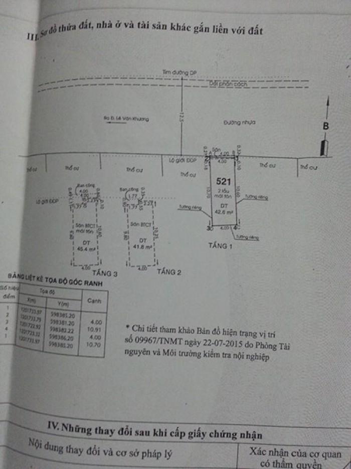 Nhà đẹp, sổ hồng chính chủ 130m2, 1 trệt 2 lầu ngay Metro, Lê Văn Khương Q.12 – 4.9 tỷ