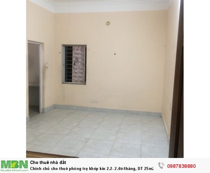 Chính chủ cho thuê phòng trọ khép kín 2.1- 2.3tr/tháng, DT 25m2 tại số 3 ngõ 235 Phạm Văn Đồng