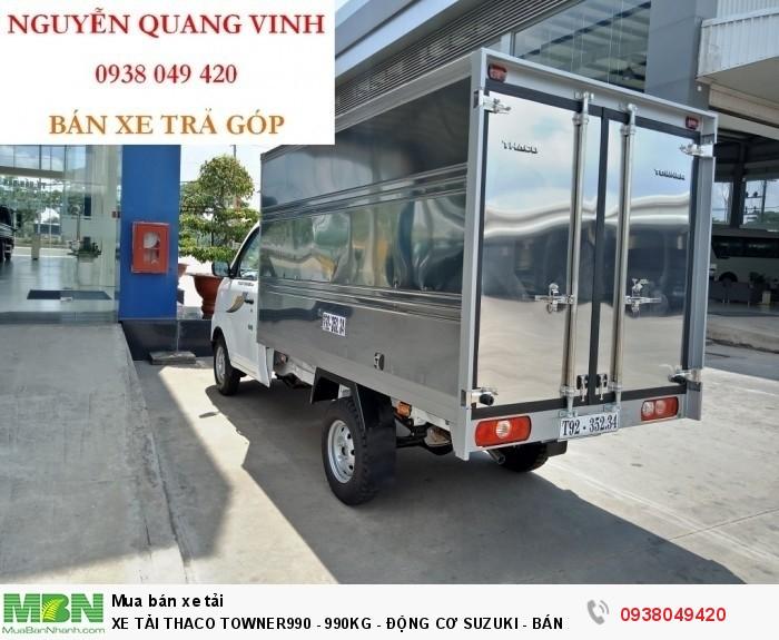 Khuyễn Mãi 100% Phí Trước Bạ - Xe Tải Thaco Towner990 - Động cơ Suzuki - Tải trọng 1 tấn - Mới nhất hiện tại