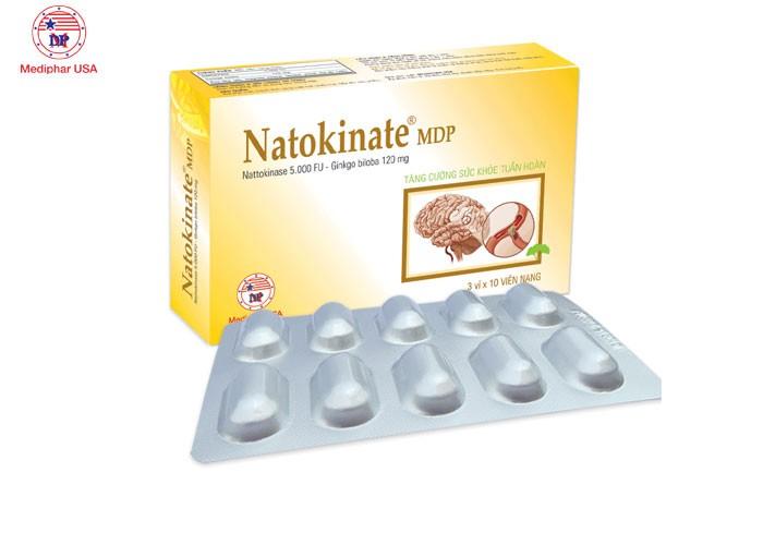 Tăng cường sức khỏe tuần hoàn não -  natokinate mdp