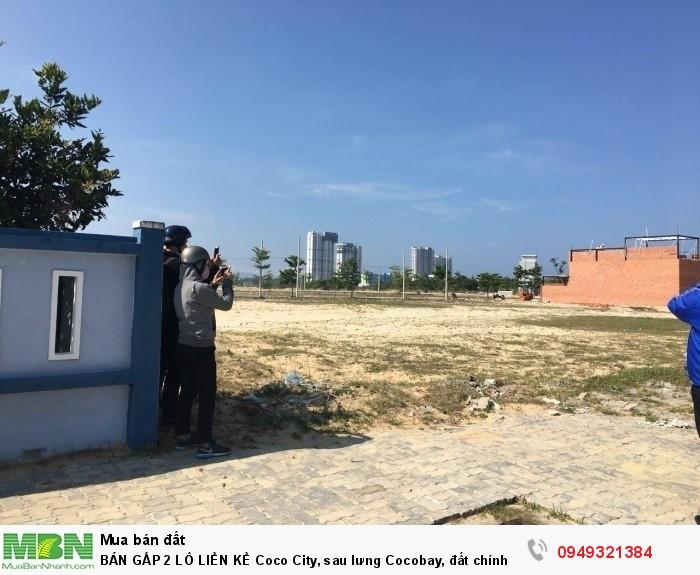 BÁN GẤP 2 LÔ LIỀN KỀ Coco City, sau lưng Cocobay, đất chính chủ sổ đỏ trao tay