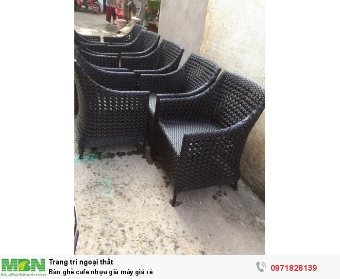 Bàn ghế cafe nhựa giả mây giá rẻ1