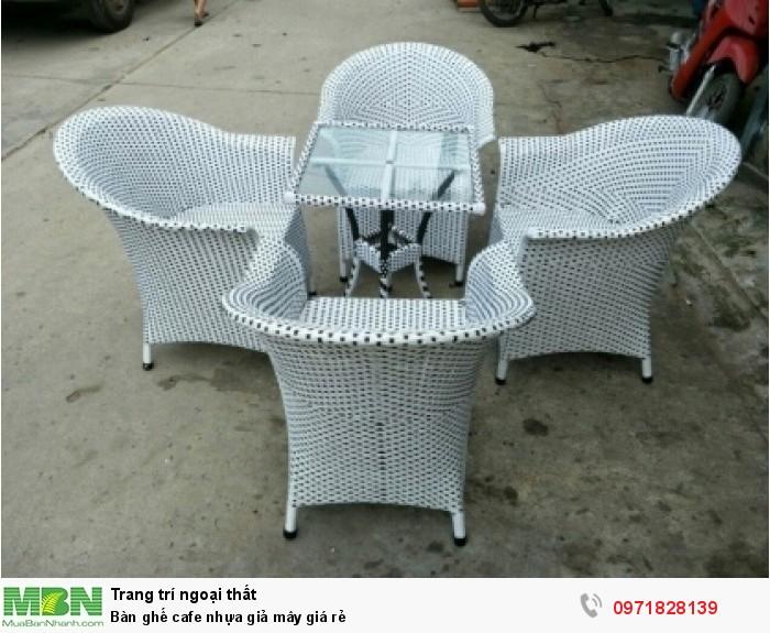 Bàn ghế cafe nhựa giả mây giá rẻ4