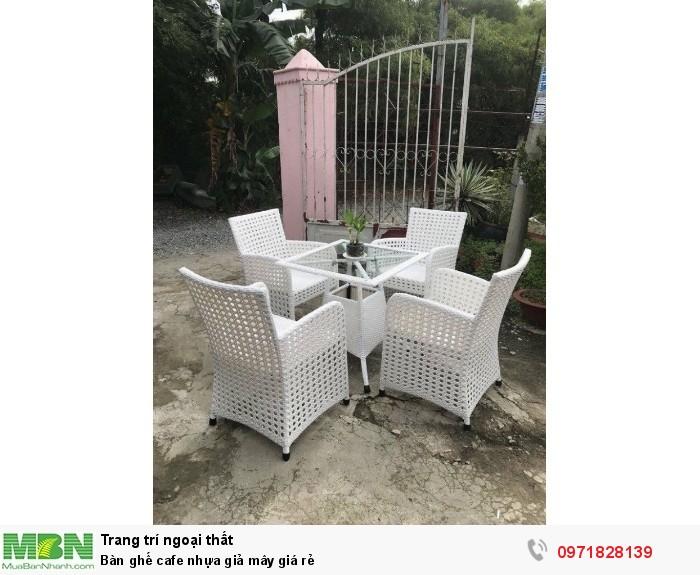 Bàn ghế cafe nhựa giả mây giá rẻ5