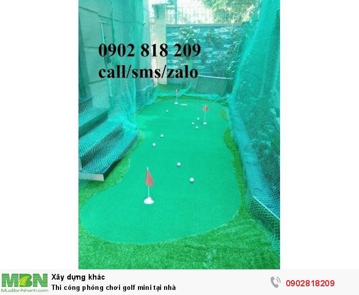 Thi công phòng chơi golf mini tại nhà1