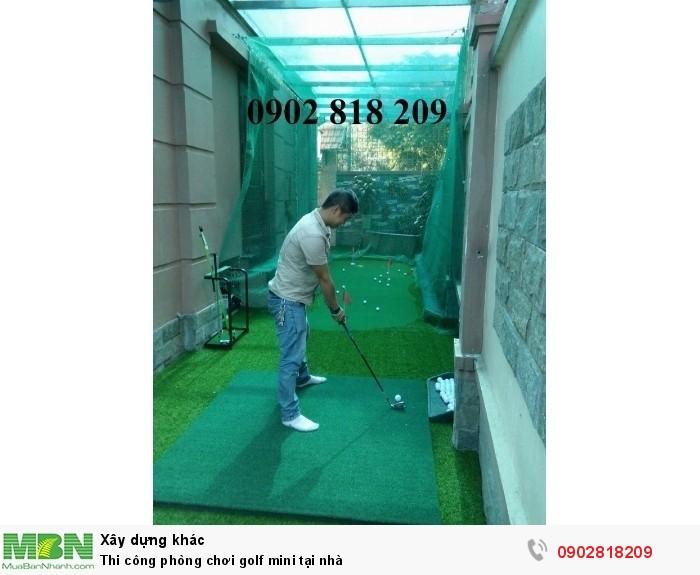 Thi công phòng chơi golf mini tại nhà3