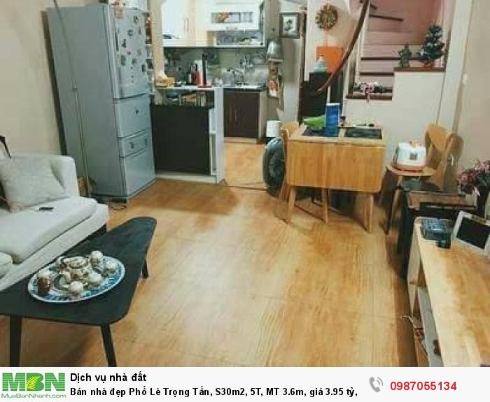 Bán nhà đẹp Phố Lê Trọng Tấn,  S30m2, 5T, MT 3.6m, ô tô đỗ cửa.