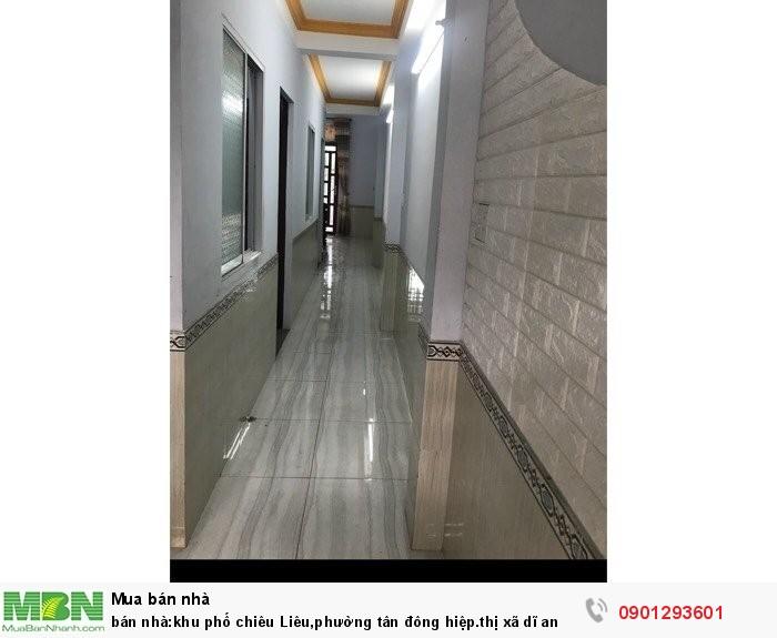 Bán nhà:khu phố Chiêu Liêu,phường Tân Đông Hiệp.thị xã Dĩ An