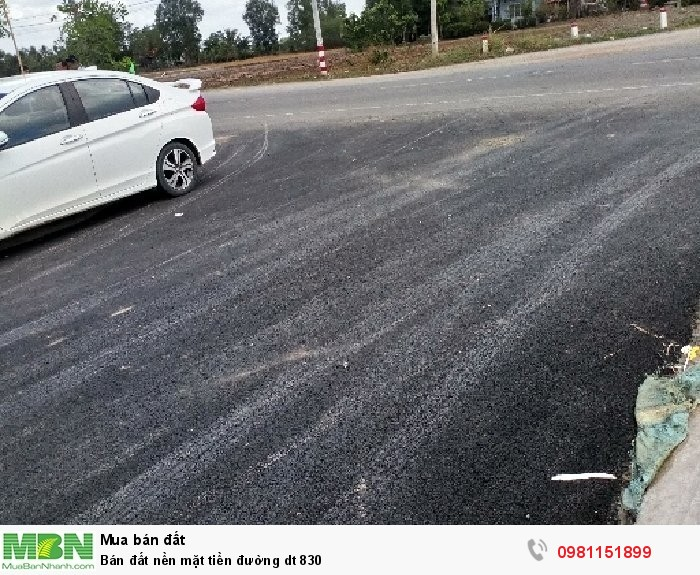 Bán đất nền mặt tiền đường dt 830