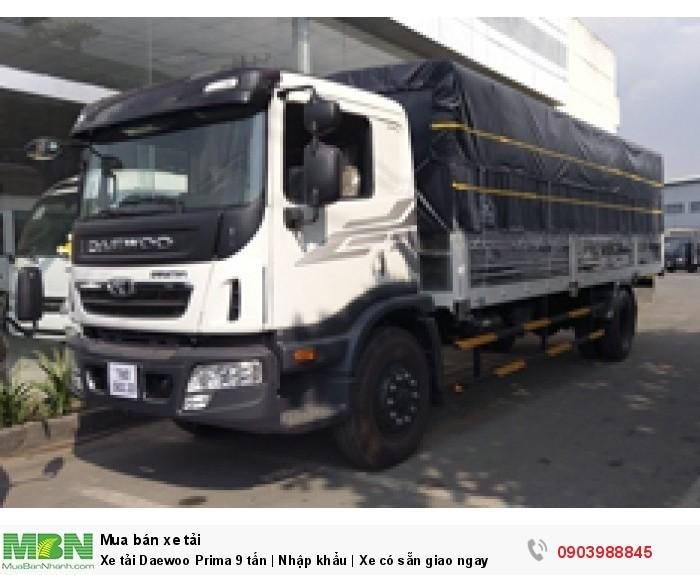 Xe tải Daewoo Prima 9 tấn | Nhập khẩu | Cabin sát xi | Xe có sẵn giao ngay