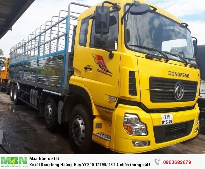 Xe tải Dongfeng  Hoàng Huy YC310 17T99/ 18T 4 chân thùng dài 9m5