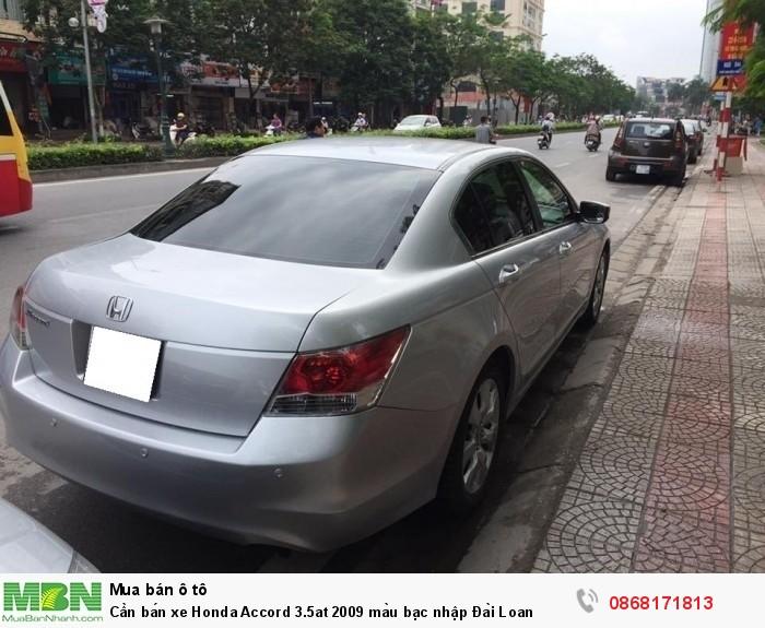Cần bán xe Honda Accord 3.5at 2009 màu bạc nhập Đài Loan