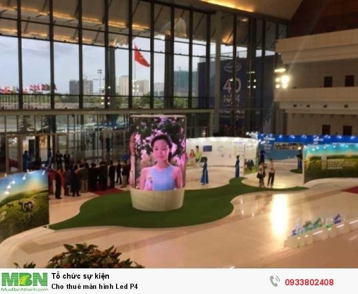 Cho thuê màn hình Led P4 mành lắp cong tạo thành hình ly sữa - Lễ kỷ niệm 40 năm thành lập VINAMILK