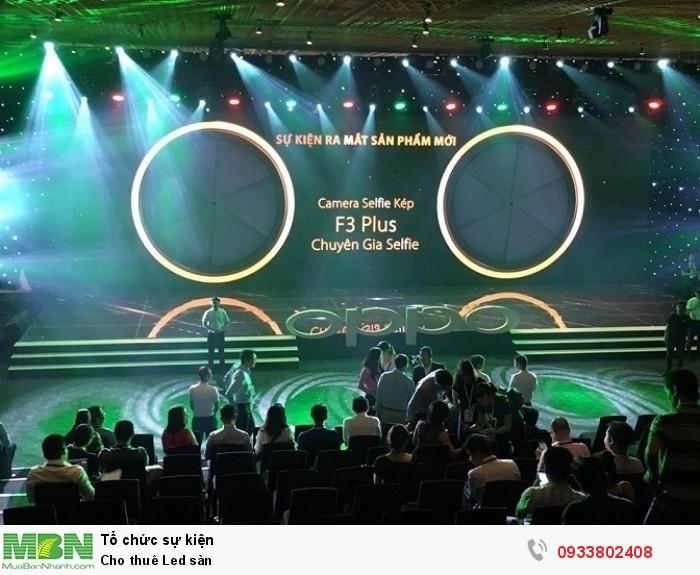 Cho thuê màn hình Led trong nhà - Sự kiện ra mắt điện thoại Oppo F3 Plus. Chương trình được lắp đặt với màn hình Led Panorama kích thước lớn và Led sàn theo kích thước của sân khấu. (chi tiết xem nội dung bên dưới)