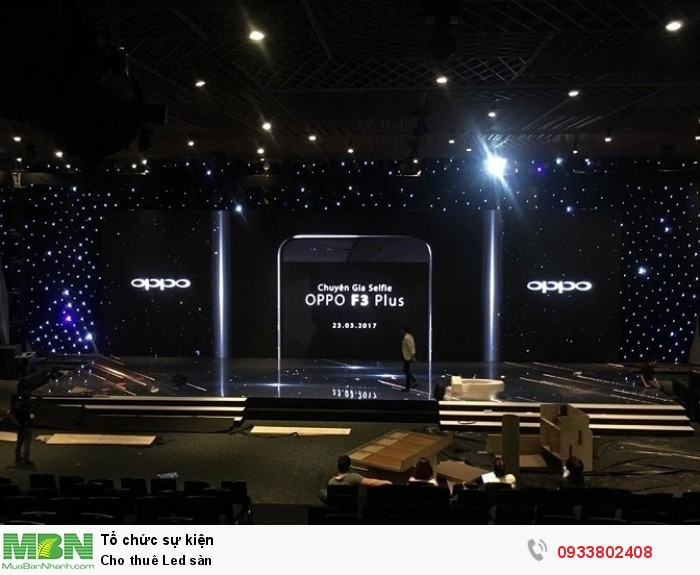 Cho thuê màn hình Led trong nhà - Sự kiện ra mắt điện thoại Oppo F3 Plus - Chương trình được sử dụng với hơn 200m2 màn hình Led indoor (màn hình Led trong nhà).