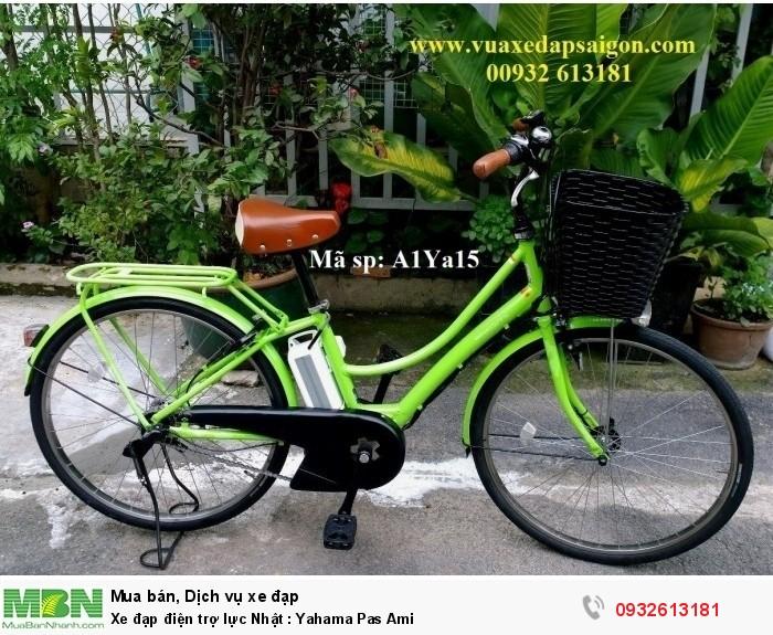 Xe đạp điện trợ lực Nhật : Yahama Pas Ami