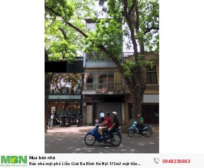 Bán nhà mặt phố Liễu Giai Ba Đình Hà Nội 172m2 mặt tiền 7,2m