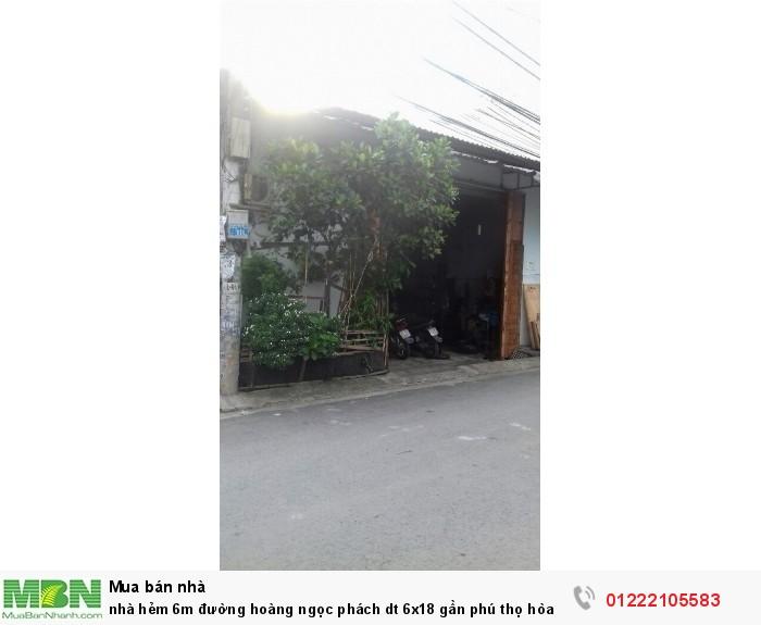 nhà hẻm 6m đường hoàng ngọc phách  dt 6x18 gần phú thọ hòa ,  shr