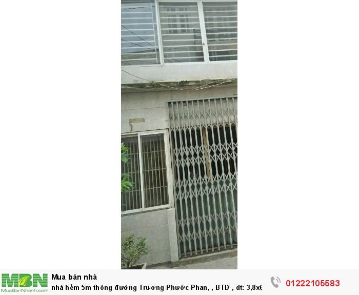 nhà hẻm 5m thông đường Trương Phước Phan, , BTĐ  , dt: 3,8x6