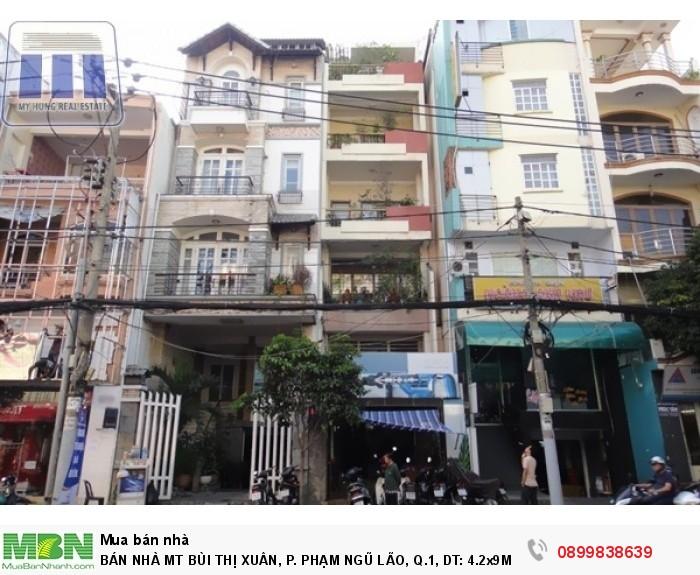 Bán Nhà Mt Bùi Thị Xuân, P. Phạm Ngũ Lão, Q.1, Dt: 4.2x9m, 3 Lầu