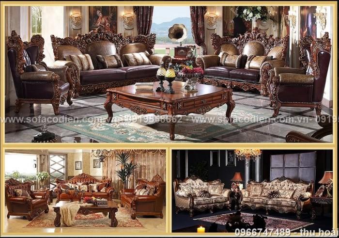 Nội thất phòng khách cổ điển, sofa tân cổ điển tphcm, cần thơ giá rẻ18