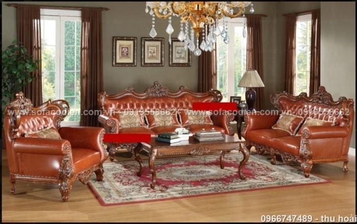 [21] Nội thất phòng khách cổ điển, sofa tân cổ điển tphcm, cần thơ giá rẻ