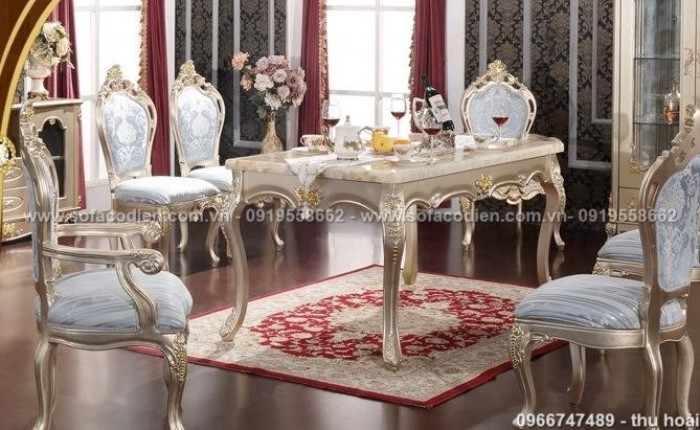 [15] Giá bàn ăn cổ điển TPHCM, Nơi bán bàn ghế ăn tân cổ điển uy tín giá rẻ