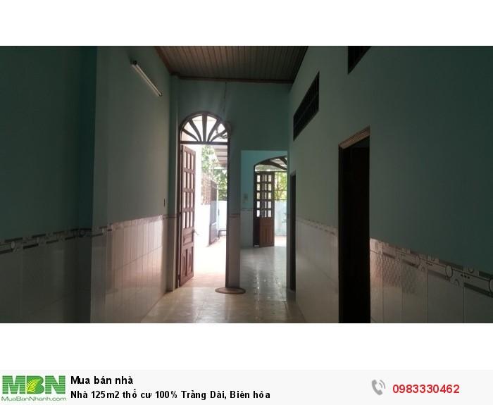 Nhà 125m2 thổ cư 100% Trảng Dài, Biên hòa