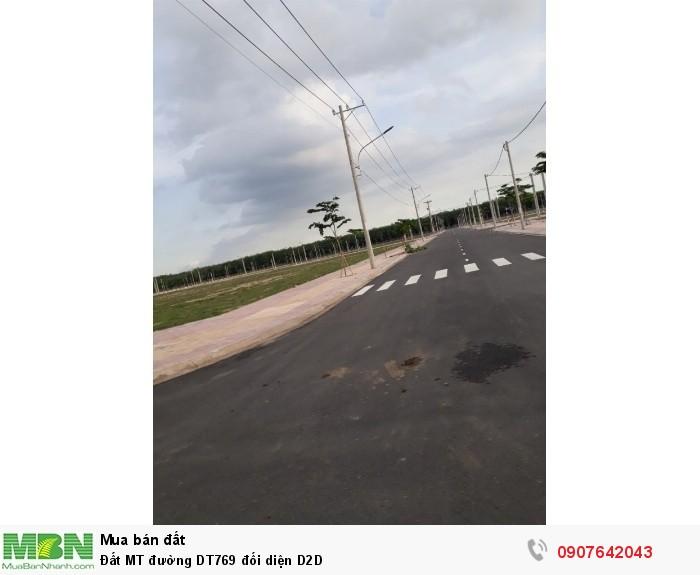Đất MT đường DT769 đối diện  D2D