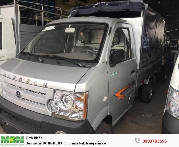 Bán xe tải DONGBEN thùng mui bạt, hàng sẵn có