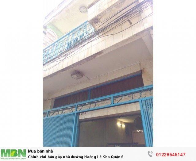 Chính chủ bán gấp nhà đường Hoàng Lê Kha Quận 6