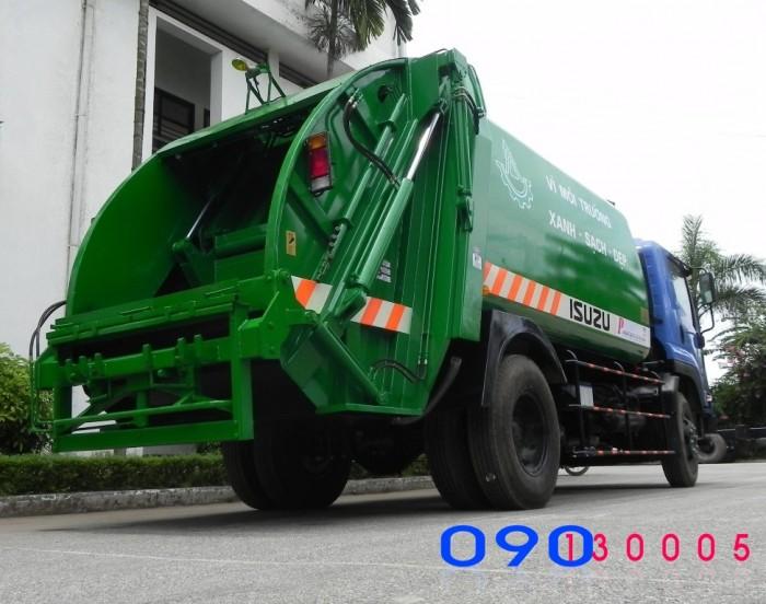 Bán trả góp xe ép rác Isuzu FVR34L 14 khối - 14m3- 8 tấn