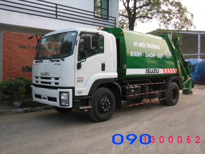 Bán trả góp xe ép rác Isuzu FVR34L 14 khối - 14m3- 8 tấn 2