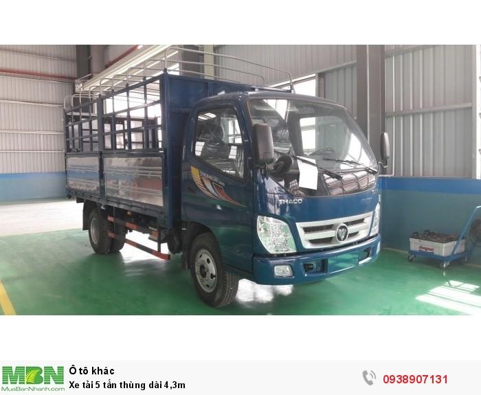 Xe tải 5 tấn thùng dài 4,3m